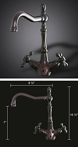 Italia Victorian Single Hole Single-Handle Vessel Bathroom Faucet in Oil  Rubbed Bronze
