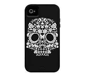 Day of the Dead Skull No9 iPhone 4/4s Black Tough Phone Case - Design By Humans