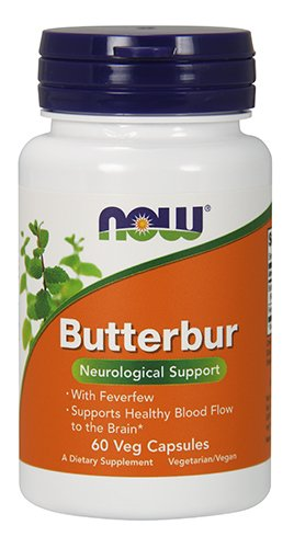 Now Butterbur with Feverfew 60 Veg Capsules
