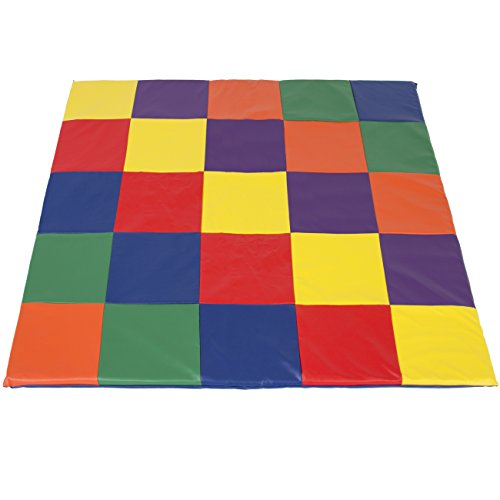 Best Choice Products 58x58in Foam Cushioned Activity Floor Mat for Toddlers and Kids, Indoor and Outdoor Play Areas w/ 2-Inch Cushion, Colorful Tiles