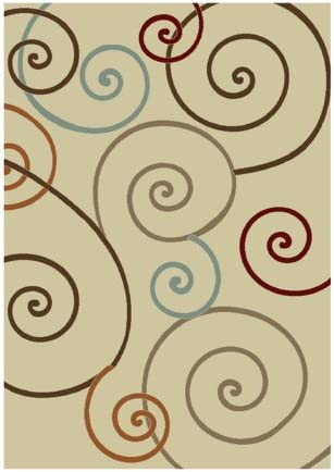 Concord Chester Scroll Ivory 5 3 X 7 3 Rug