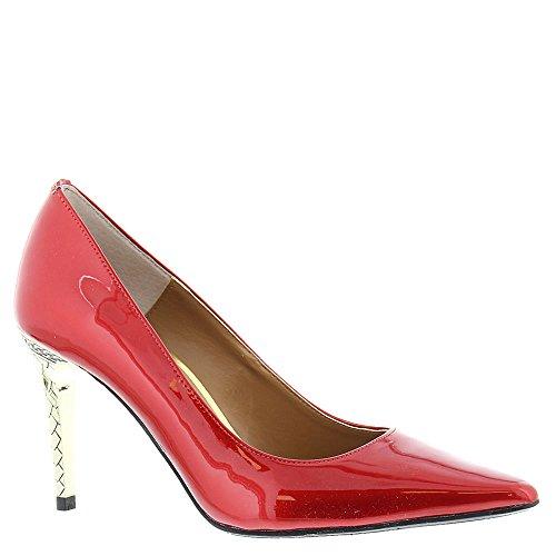 Classic Renee J patent metallic Pumps Maressa Pointed Womens Toe Red Rw7nOS7qr