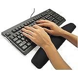 TRIXES Keyboard Wrist Rest Black Gel Wrist Support Pad Cushion
