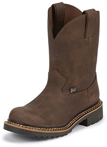 Justin Kids Men's 4444JR Brown Boot 4.5 Big Kid M -