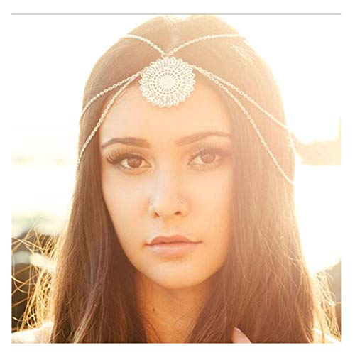 LittleB Bohemia Hair Accessories Goldn Flowers Disk Headbands for Women and Girls.]()