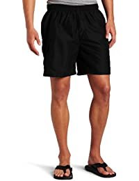 Men's Havana Elastic Waist Solid Swim Trunk