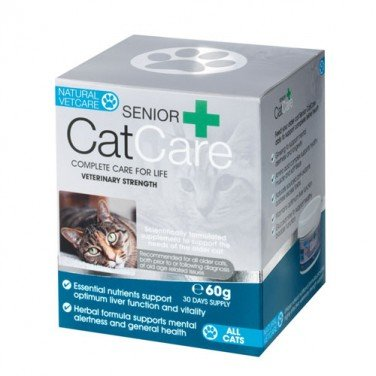 Natural VetCare Senior CatCare Veterinary Strength Joint, Kidney and Senior Supplement for Older Cats