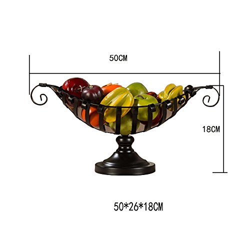 Comport Kitchen Fruit Basket Living Room Dim Sum Tray Wrought Iron Black (502618cm) by JANSUDY (Image #4)