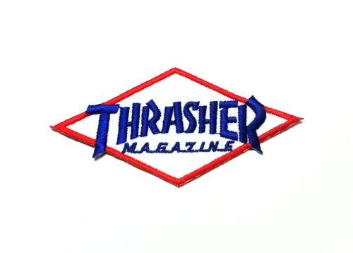 Thrasher Flames Logo Skater Punk Patch Iron on Sew Applique Embroidered Patches