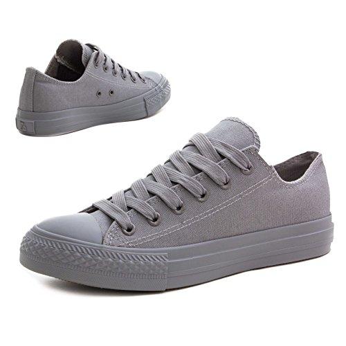 Basses Tout Montantes Hommes Unisexe Femmes Baskets Classiques Gris Chaussures pffX0xvq