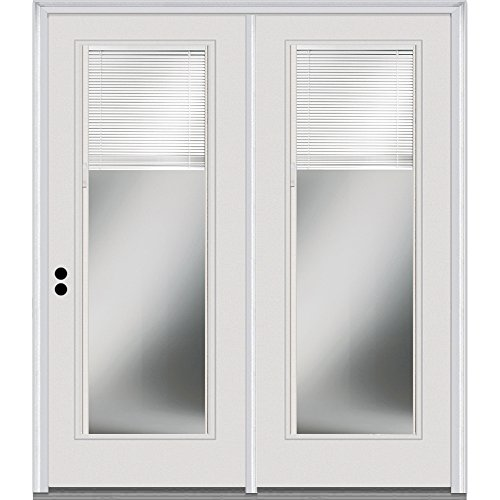 National Door Company Z001651R Steel Primed, Right Hand In-swing, Patio Door, Full Lite, 60