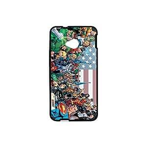 HTC One M7 Superhero Plastic and TPU Case