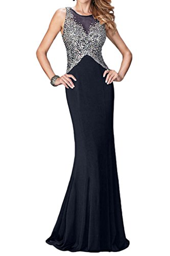 Missdressy - Vestido - para mujer azul marino