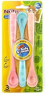 Nuby Hot Safe Soft Tip Spoons 3pk 0m+ Set - 1015379