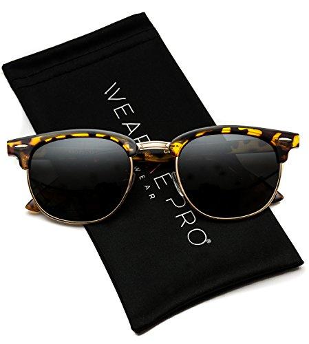 WearMe Pro - Classic Half Frame Polarized Semi-Rimless Rimmed ()