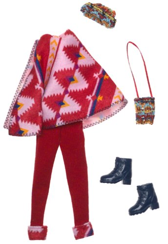 Barbie Fashion Avenue: Coat Collection. Red Poncho