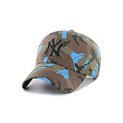 '47 Brand Headwear New York Yankees Neon Camo Clean up Slouch Fit Hat