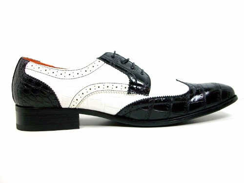 Mens White Aldo Wingtip Spectators Up Black Lace Shoes Dress Ferro Oxford wqTFwnaZpx