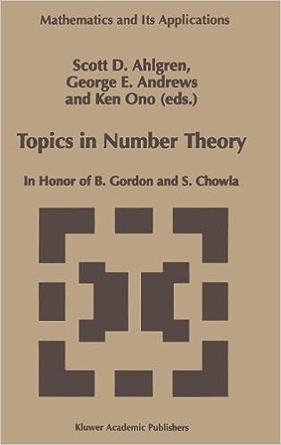 Lataa englanninkieliset äänikirjat Topics in Number Theory: In Honor of B. Gordon and S. Chowla (Mathematics and Its Applications) 0792355830 by Ken Ono PDF CHM