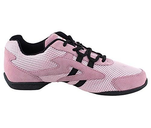 Very Fine Ballroom Latin Tango Salsa Dance Sneakers Shoes for Women Men VFSN012 + Foldable Brush Bundle Pink UidZZe3KV