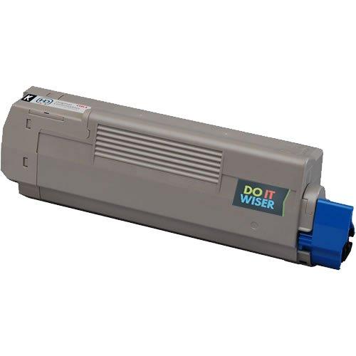 Do It Wiser ® Compatible Black Toner Cartridge For Oki Okidata C6100 C6150 MC560 -43324420- Yield 8,000 pages