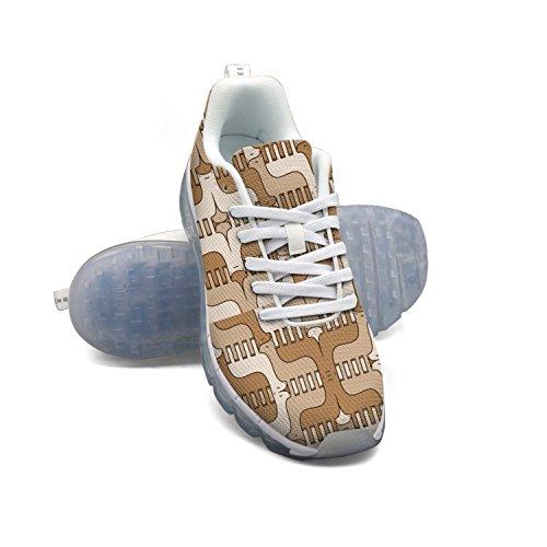 Faaerd Llama Art Womens Mesh Traspirante Walking Sneakers Air Cushion Scarpe Sportive Traspiranti Scarpe Da Corsa Atletiche