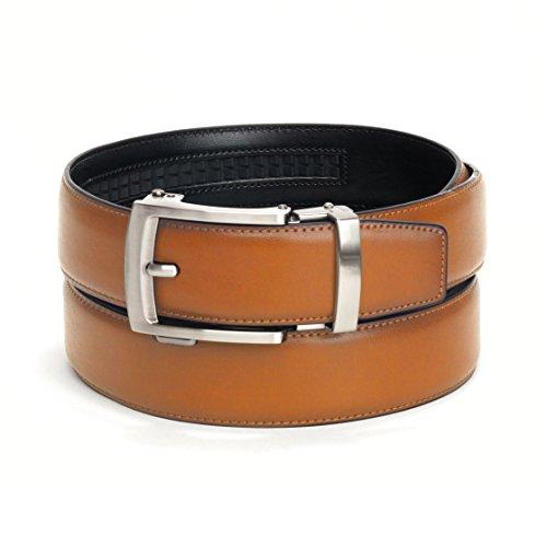 Mens Adjustable Comfortable Click Ratchet Belt (Tan)