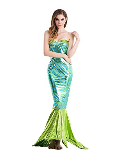 NoveltyBoy Halloween Mermaid Cosplay Costume Cosplay Apparel Hotel Moderator Evening Dress Dovetail Skirt Dress