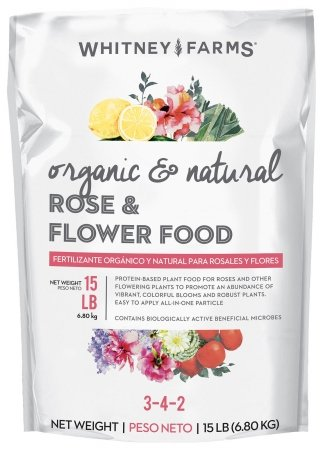 Whitney Farms 10101-10031 15 Lb Organic & Natural Rose & Flower Food 3-4-2