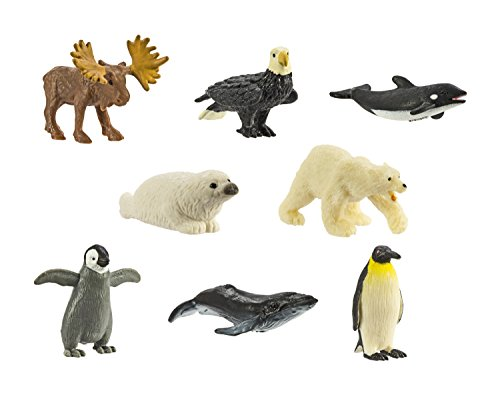 (Safari Ltd. Good Luck Minis - Arctic Fun Pack - 8 Pieces - Quality Construction from Phthalate, Lead and BPA Free Materials - for Ages 5 and Up)