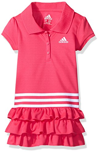 adidas Little Girls' Active Polo Dress, Medium Pink, 5 (Golf Clothes For Girls)