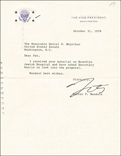 Vice President Walter F. Mondale Typed Letter Signed 10/31/1979