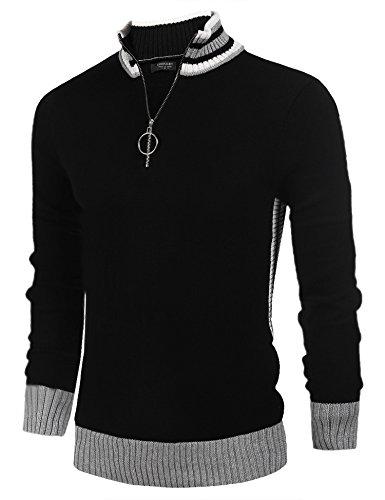 COOFANDY Men's Business Casual Crew Neck Long Sleeve Sweater Quarter-Zip Pullover by COOFANDY