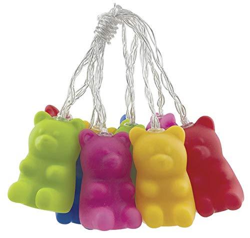iscream 10 Light Sweet Gummy Bears 78.75 Long Battery Operated Light String