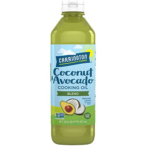 Carrington Farms gluten free, hexane free, NON-GMO, free of hydrogenated and trans fats in a BPA free bottle, liquid coconut and avocado cooking oil, 16oz (ounces)