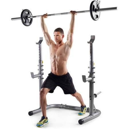 Gold's Gym Bench Presses and Squats Olympic Workout Lifting Rack by Golds Gym