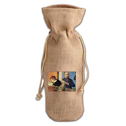 Son Portrait - Portrait Of With Son (Gauguin) Jute Burlap Burlap Wine Drawstring Bag