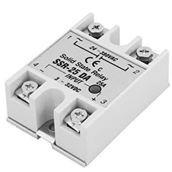ESUMIC 25Amp SSR25DA Solid State Relays For Temperature - Solid State Relay Brands