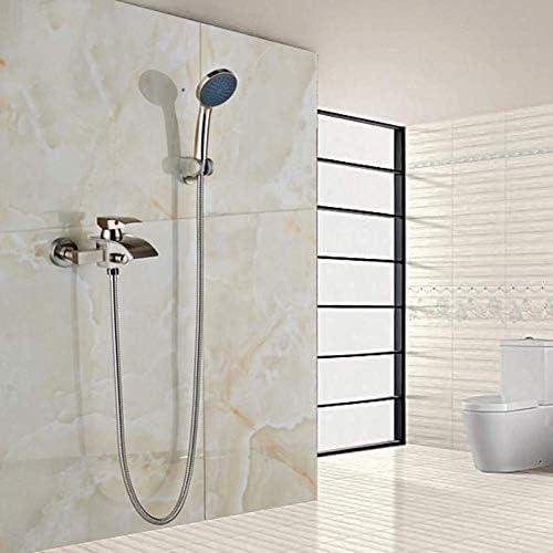 八瀬・王 お風呂シャワーミキサータップ真鍮クロームシャワーヘッド10インチ+バスタブ蛇口+二つのシャワーホース150センチメートル