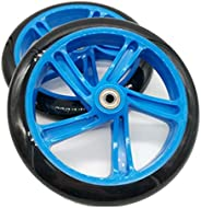 Kaxofang 2 Pieces Scooter Wheel 200 mm PU Material Wheel Thickness 30 mm ABEC-7 Bearing Scooter Accessories,Re