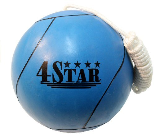New BLUE Color Tether Balls for Play Grounds & Picnics Included With Ropes by Lastworld