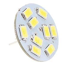 LLSai-G4 4.5W 9x5630 SMD 400-430LM 6000-6500K Natural White Light Vertical Pin LED Spot Bulb (12V)