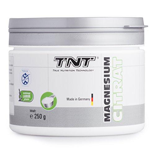 TNT Magnesium-Citrat Pulver für einen gesunden Körper | Deutsche Premium Qualität |Magnesium hochdosiert für Sport, Fitness und Nahrungsergänzung im Alltag | 250g Dose (White Apple)