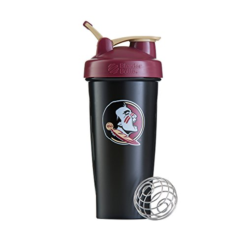 BlenderBottle Classic NCAA Collegiate Shaker Bottle, Florida State University - Black/Maroon, - Outlet Florida