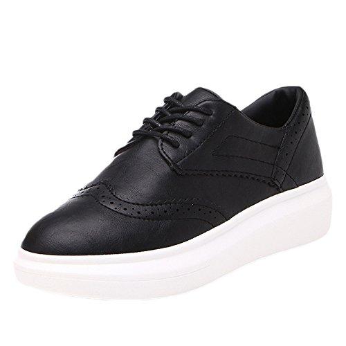 CYBLING Womens Height Increasing Thick Sneaker Casual Fashion Sport Shoes Black 38vWxjxwsL