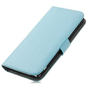Quaroth Light Blue Protective Textured Leather Wallet Case For Sony Xperia Z1 C6902