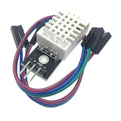 Autob/ús Temperatura Digital Y Modulo Sensor De Humedad Electr/ónico Bloques De Construcci/ón Am2302 Para Arduino SODIAL Dht22 Soltero