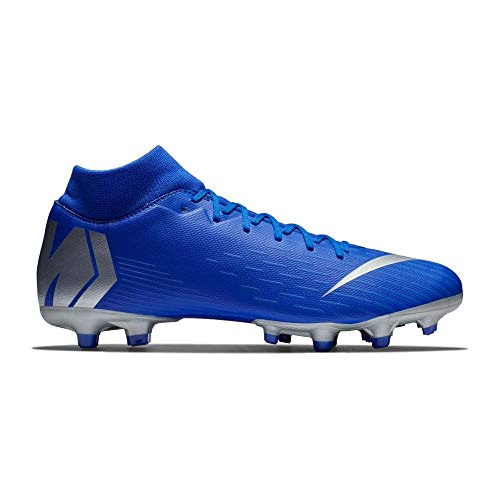 Nike Men's Mercurial Superfly 6 Academy MG Cleats (Racer Blue/Silver) (10 D US)