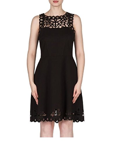 Joseph Ribkoff Laser Cut Lace Sleeveless Dress Style 173314 Size 12 by Joseph Ribkoff (Image #4)