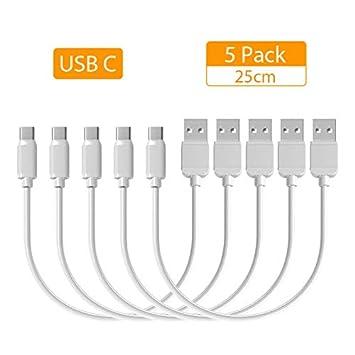 Yoyja - Cable de Carga Corto USB C Mini Tipo C (25 cm ...